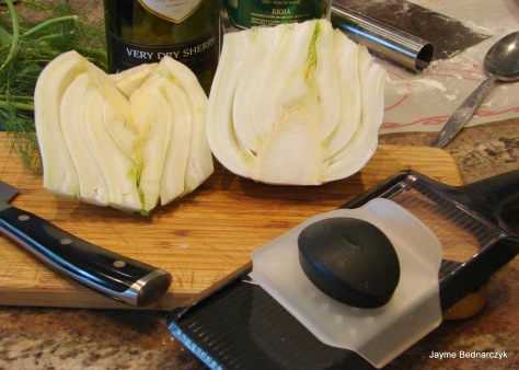 A madolin makes slicing fennel and onions a snap!
